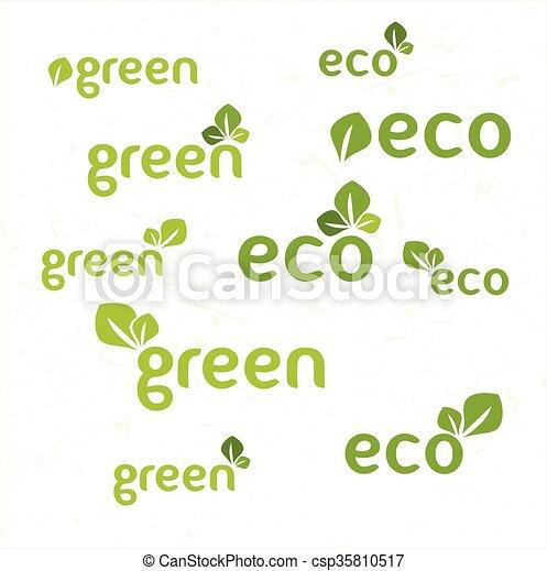Ecology icon set - csp35810517