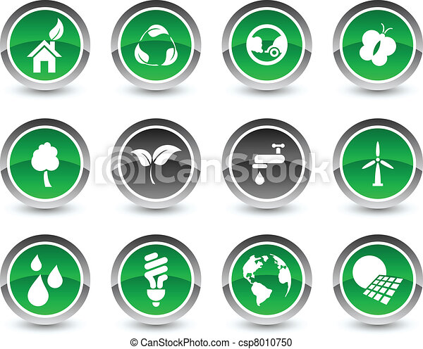 Ecology icon set. - csp8010750