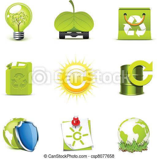 Ecology icons 2   Bella series - csp8077658