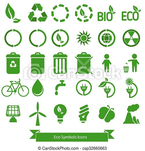 Ecology icons. - csp32660663