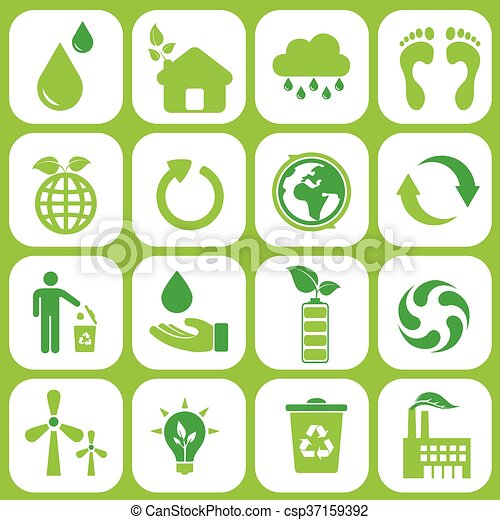 Ecology icons set - csp37159392