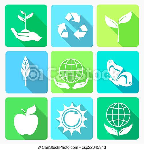 Ecology icons set - csp22045343