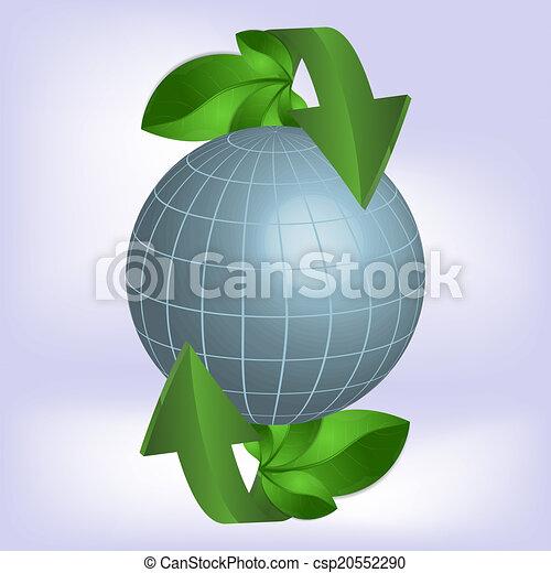 Planeta verde, ecología. - csp20552290