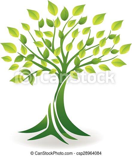 Ecology tree logo vector - csp28964084