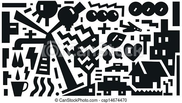 Ecology - vector background - csp14674470