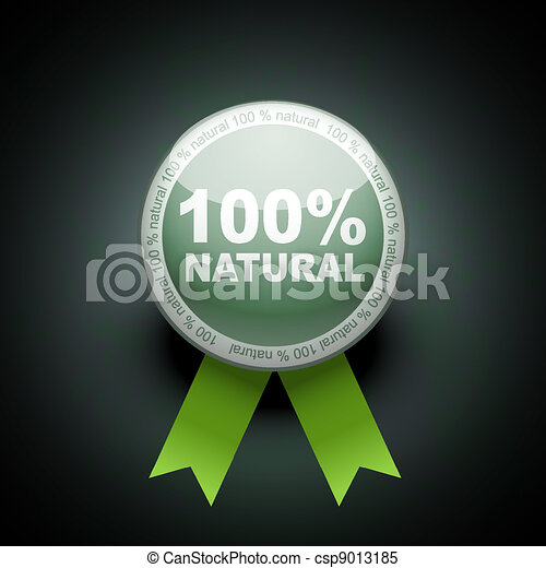 Ecology web push button icon. 100 percent - csp9013185