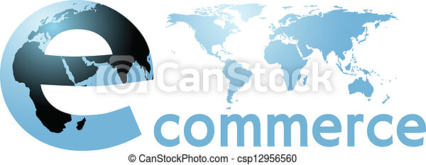 ecommerce global earth internet world word - csp12956560