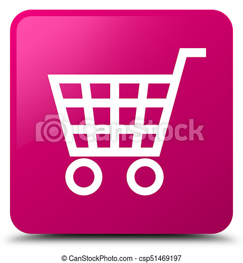 Ecommerce icon pink square button - csp51469197