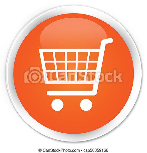 Ecommerce icon premium orange round button - csp50059166