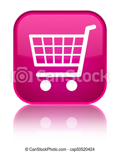 Ecommerce icon special pink square button - csp50520424