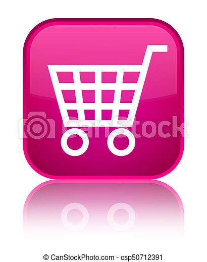 Ecommerce icon special pink square button - csp50712391