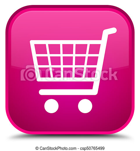 Ecommerce icon special pink square button - csp50765499