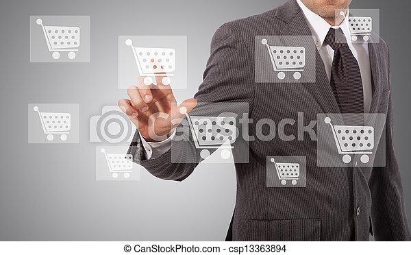 ecommerce icon touh - csp13363894