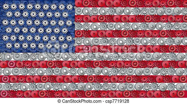Economía estadounidense - csp7719128