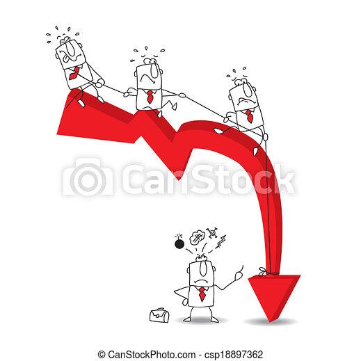 economic crisis - csp18897362