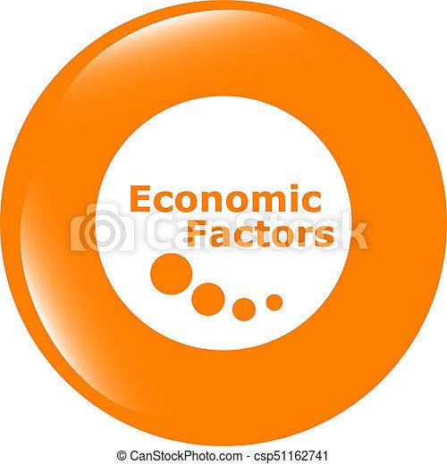 economic factors web button, icon isolated on white - csp51162741