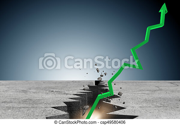 Economic recovery business concept - 3d rendering - csp49580406