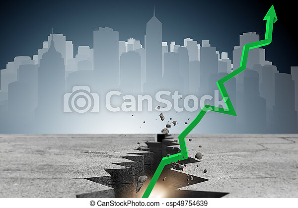 Economic recovery business concept - 3d rendering - csp49754639