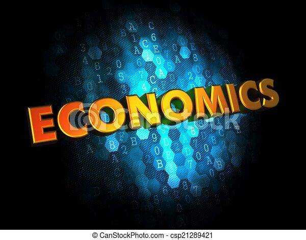 Economics Concept on Digital Background. - csp21289421