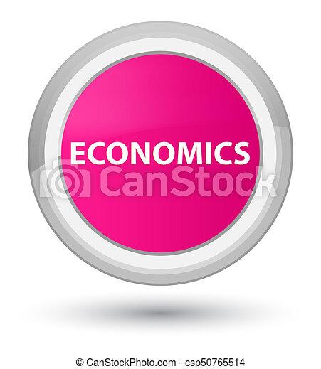 Economics prime pink round button - csp50765514