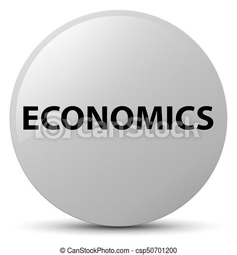 Economics white round button - csp50701200