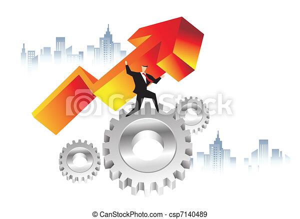 economie, zakelijk, macht - csp7140489