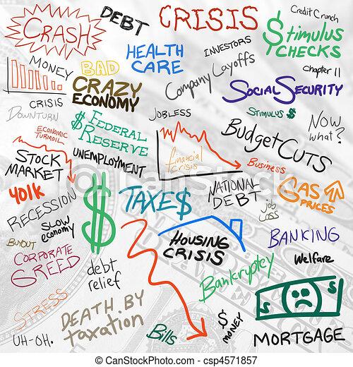 Economy Doodles - csp4571857