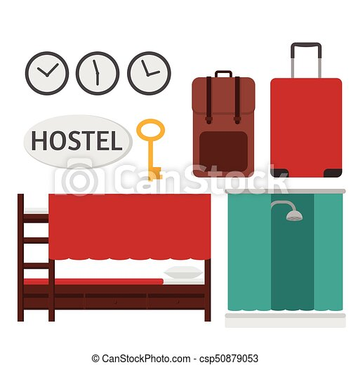 economy hostel budget hotel dormitory room interior bunk rh canstockphoto com hotel clipart png hotel clip art free