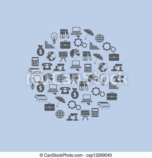 economy icons in circle - csp13269040