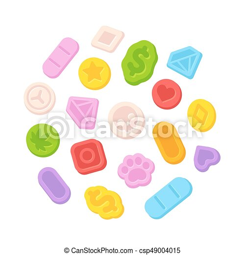 Ecstasy MDMA pills - csp49004015
