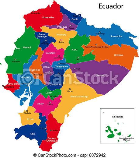 Ecuador map - csp16072942