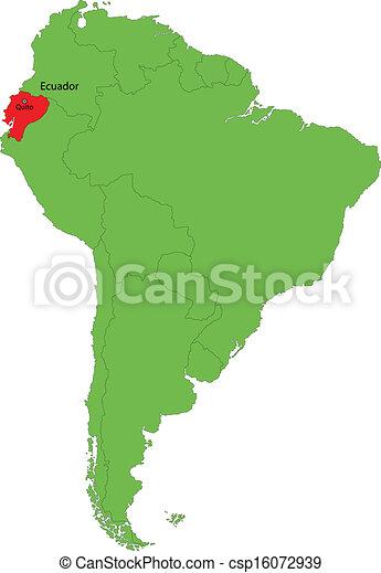 Ecuador map - csp16072939