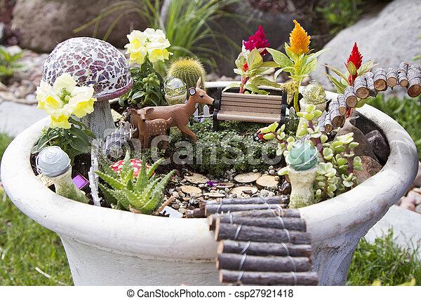 Tündér virágos kert, kerti tündér, kert