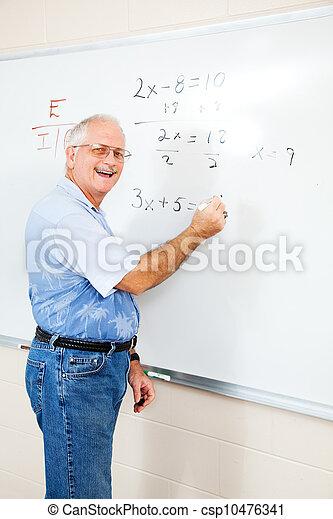 ed, feundliches , lehrer, erwachsener student, oder - csp10476341