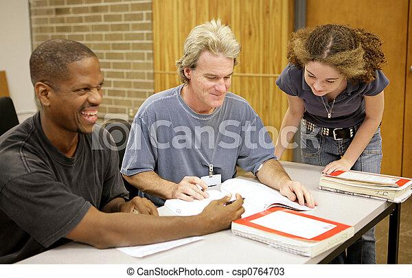ed, -, verscheidenheid, volwassen student - csp0764703