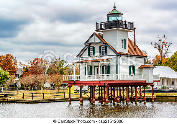 Edenton Light House, North Carolina - csp21512806