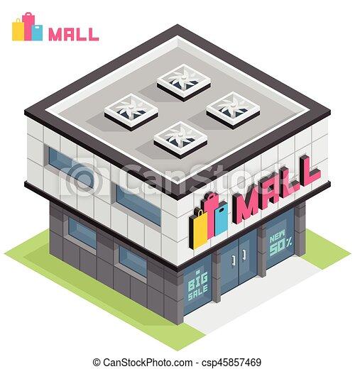 El edificio del centro comercial - csp45857469