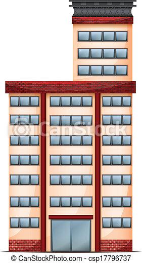 edificio, alto, comercial - csp17796737