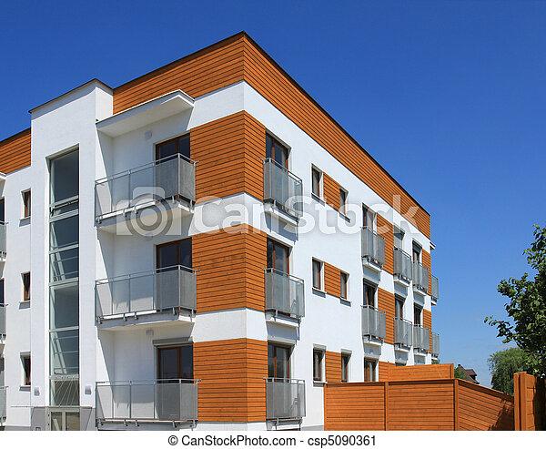 edificio, apartamento, contemporáneo - csp5090361