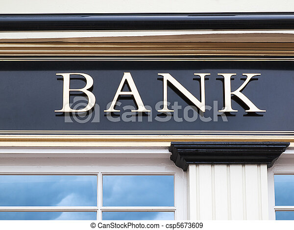 El edificio del banco - csp5673609