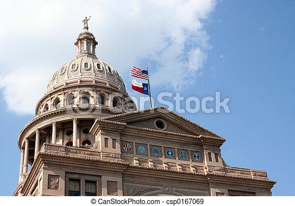 Edificio de capital estatal en el centro de Austin, Texas - csp0167069