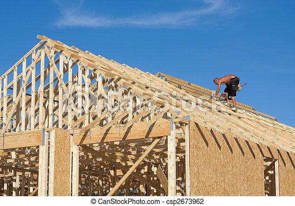 El techo del edificio Carpenter - csp2673962