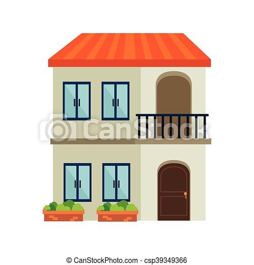 Edificio casa arquitectura moderna residencial for Casa moderna vector