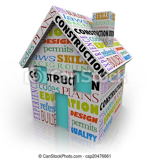 edificio, casa, constructor, contratista, proyecto, construcción, hogar, nuevo - csp20476661