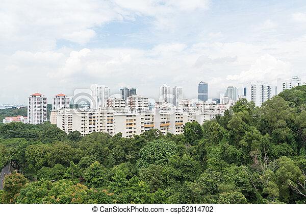 Edificio en Singapur. - csp52314702