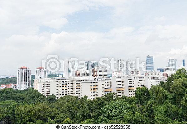 Edificio en Singapur. - csp52528358
