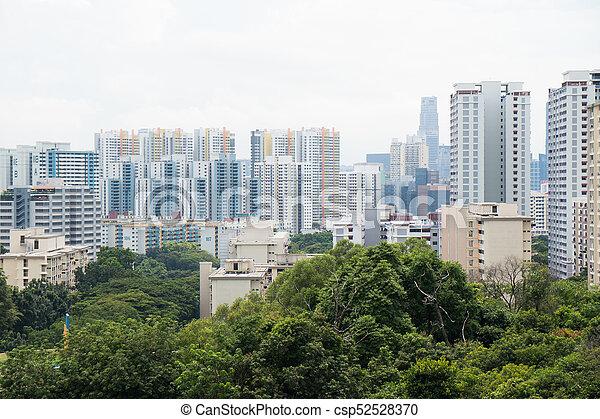 Edificio en Singapur. - csp52528370