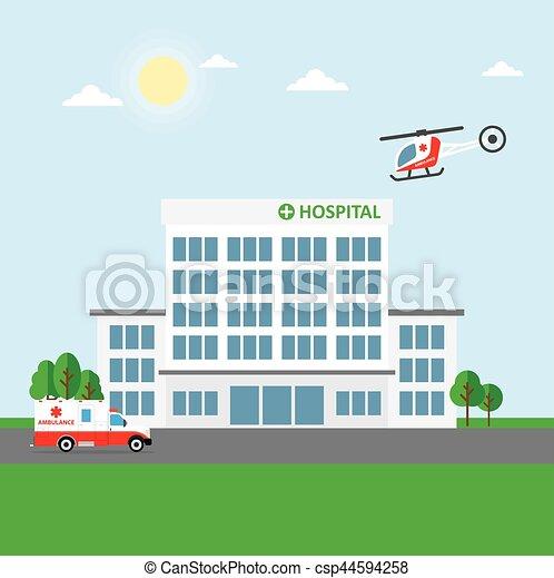 Edificio del hospital o clínica - csp44594258
