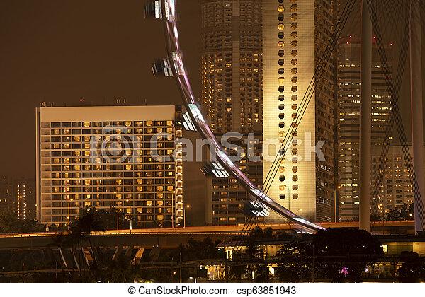 Un edificio moderno en Singapur - csp63851943