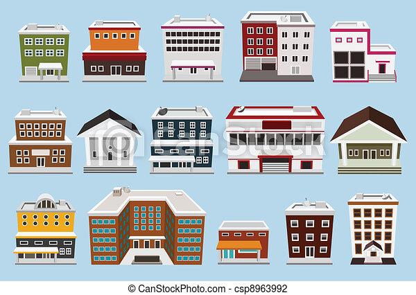 edificio, colección - csp8963992